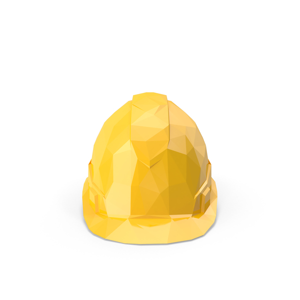 Low Poly Hard Hat Object