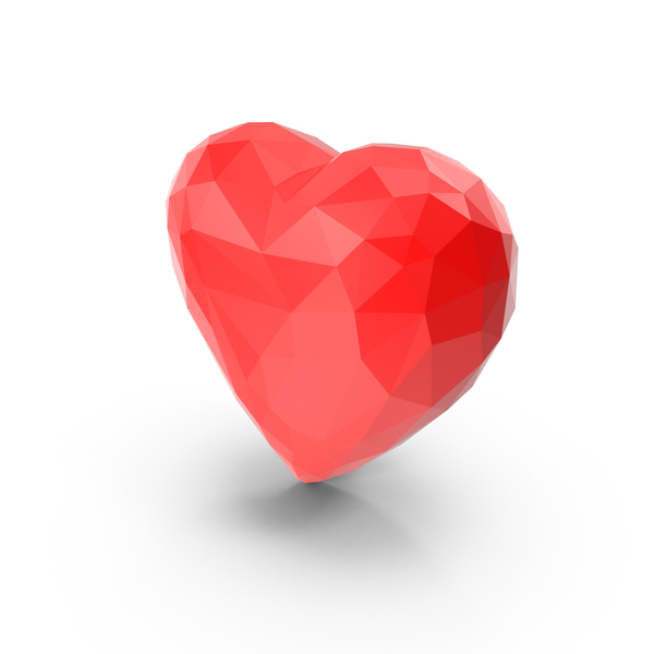 Low Poly Heart PNG & PSD Images