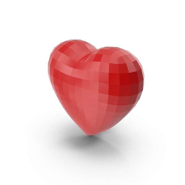 Low Poly Heart Object