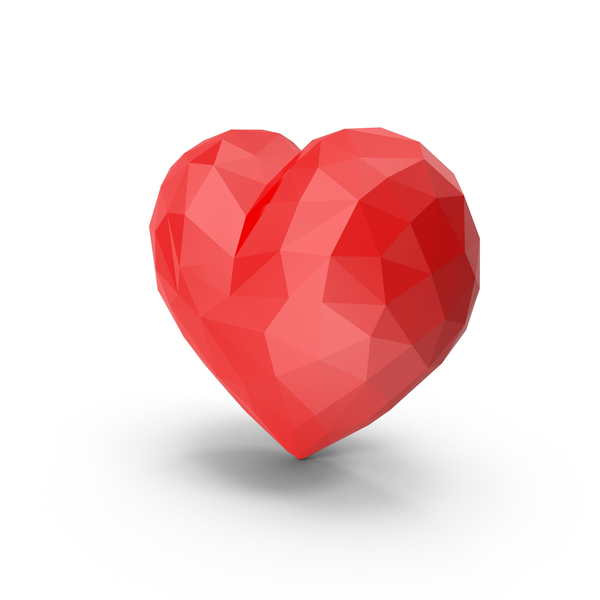 Shape: Low Poly Heart PNG & PSD Images