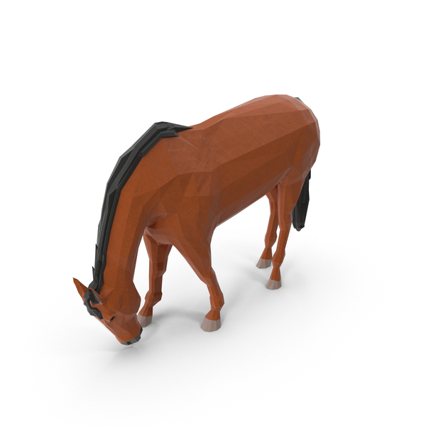 Low Poly Horse Object