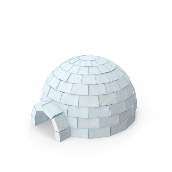 Low Poly Igloo Object