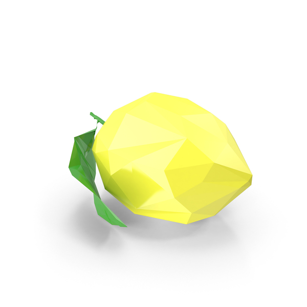 Low Poly Lemon PNG & PSD Images