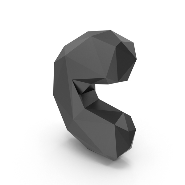 Low Poly Letter C PNG & PSD Images