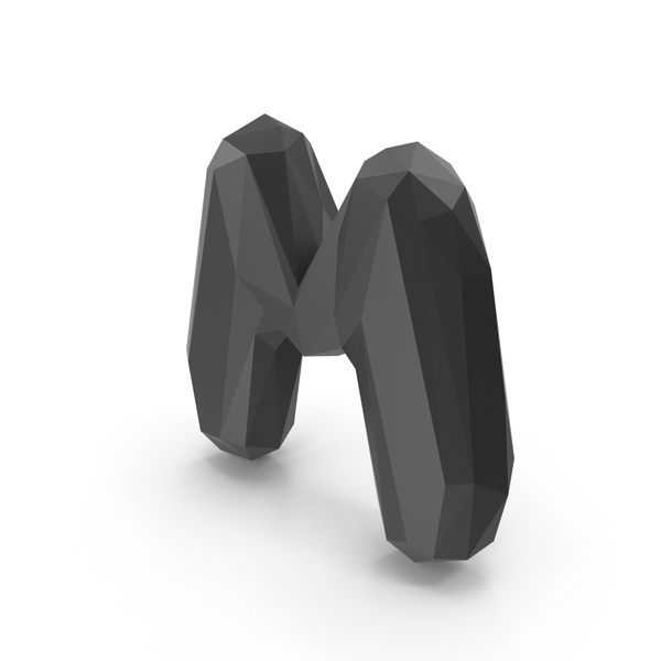 Roman Alphabet: Low Poly Letter M PNG & PSD Images
