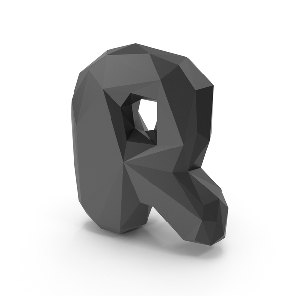 Low Poly Letter R PNG & PSD Images