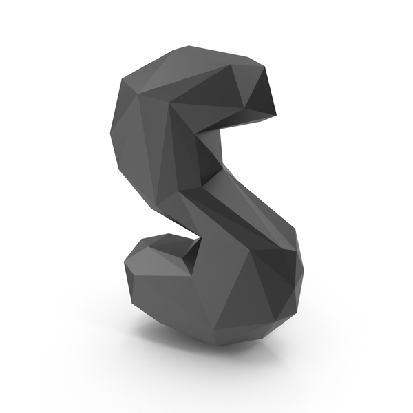 Low Poly Letter S PNG & PSD Images