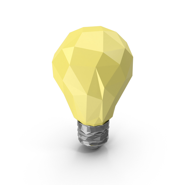 Low Poly Light Bulb PNG & PSD Images