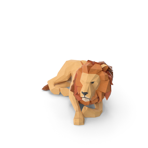 Low Poly Lion Object