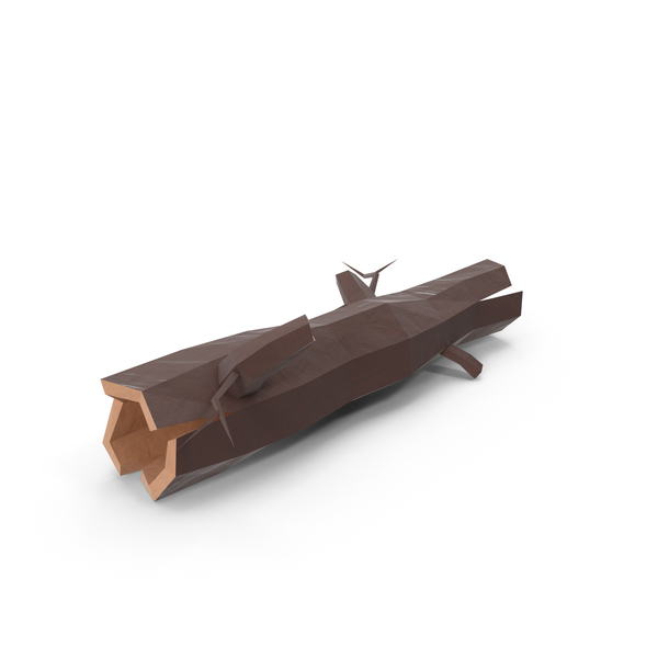 Low Poly Log Object