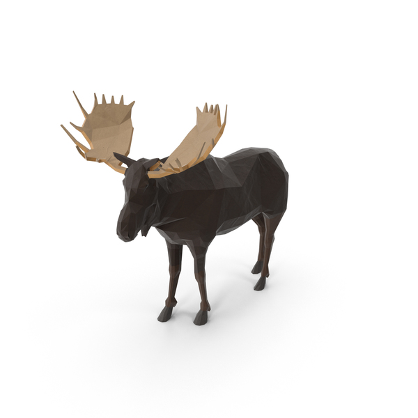 Low Poly Moose PNG & PSD Images