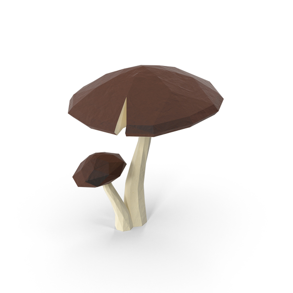 Low Poly Mushrooms PNG & PSD Images