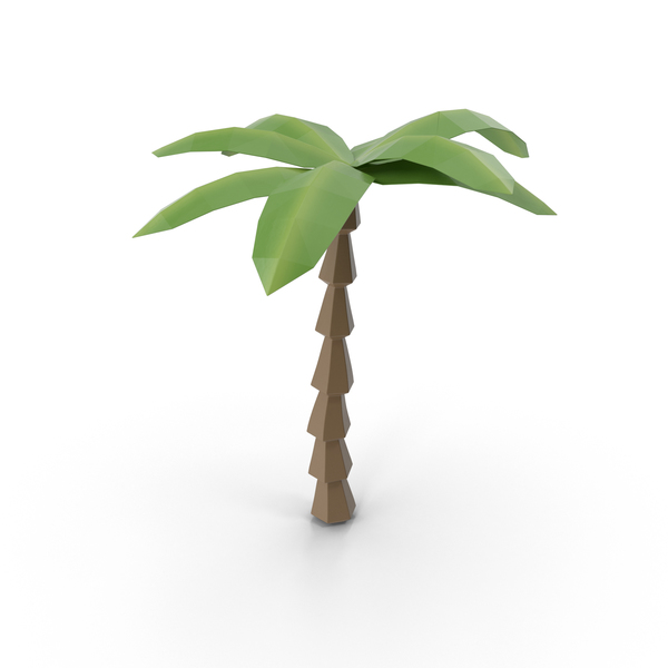 Tree: Low Poly Palm PNG & PSD Images