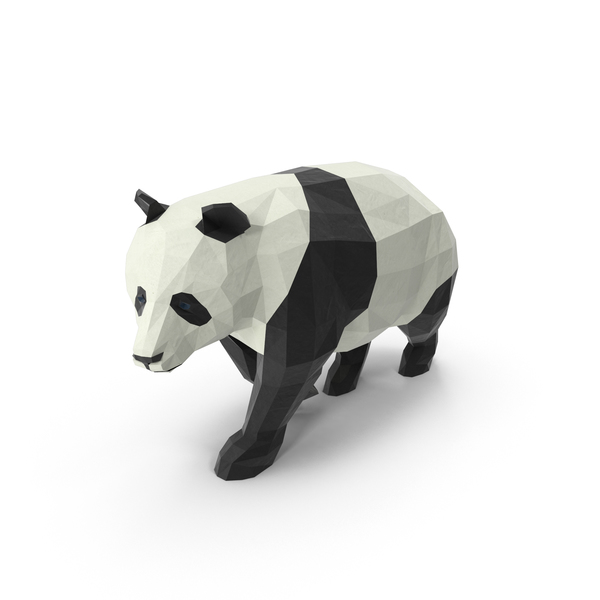 Low Poly Panda PNG & PSD Images