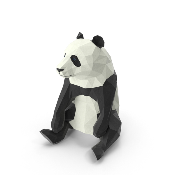 Bear: Low Poly Panda PNG & PSD Images
