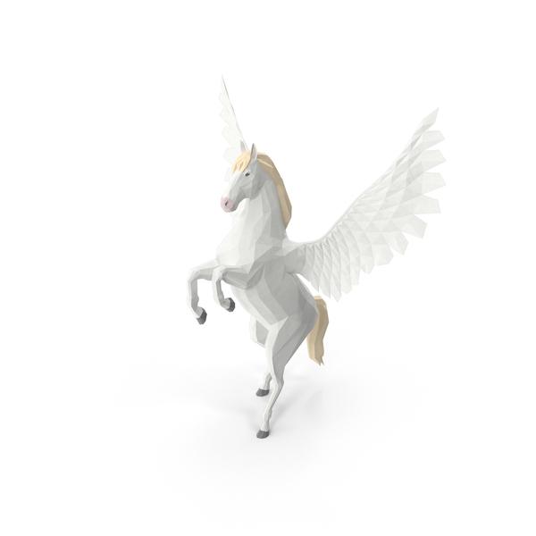 Low Poly Pegasus PNG & PSD Images