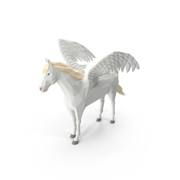 Low Poly Pegasus PNG & PSD Images