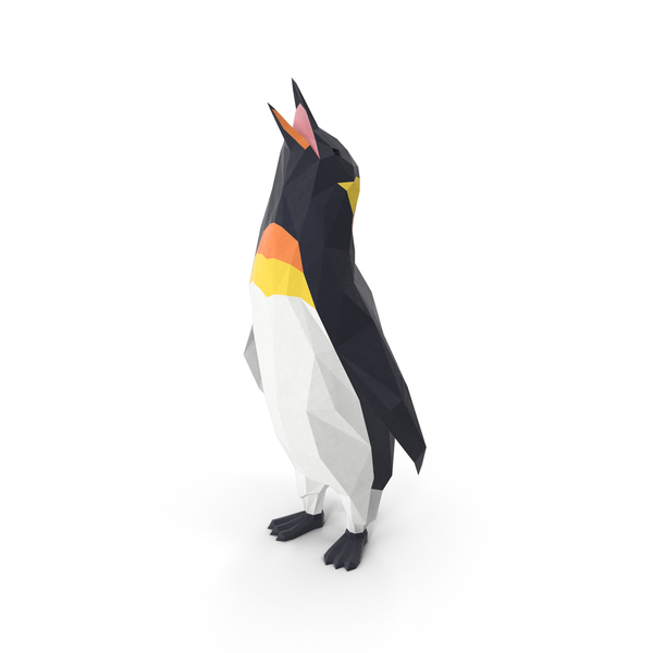 Low Poly Penguin Object