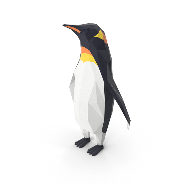 Low Poly Penguin PNG & PSD Images