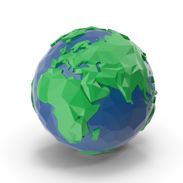 Low Poly Planet Earth PNG & PSD Images