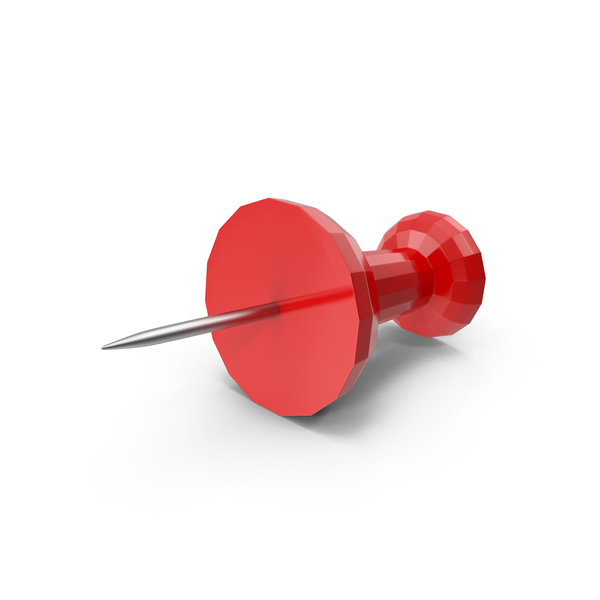 Low Poly Push Pin PNG & PSD Images