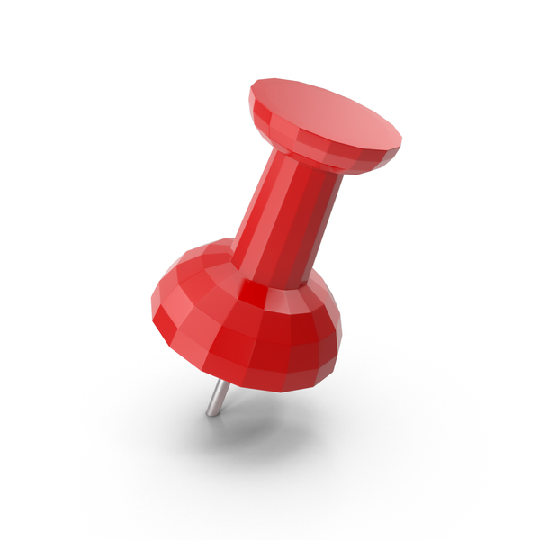 Thumbtack: Low Poly Push Pin PNG & PSD Images