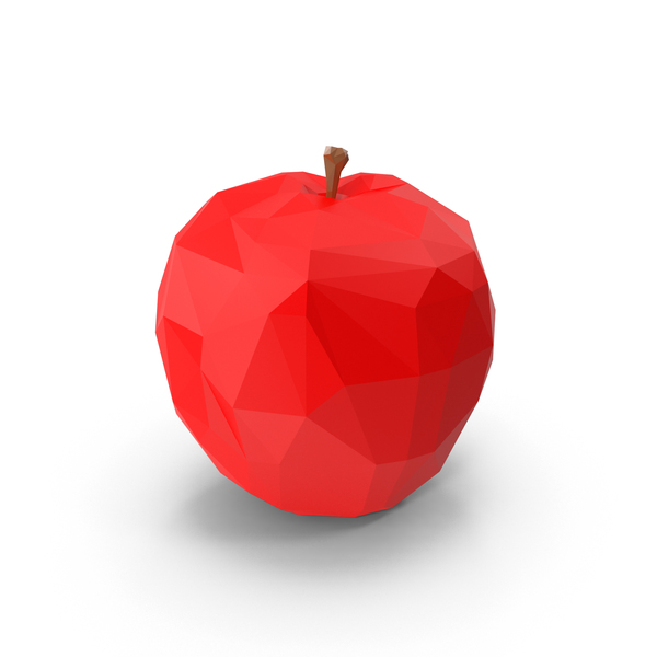 Low Poly Red Apple PNG & PSD Images