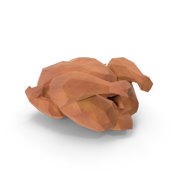 Roast: Low Poly Roasted Turkey PNG & PSD Images