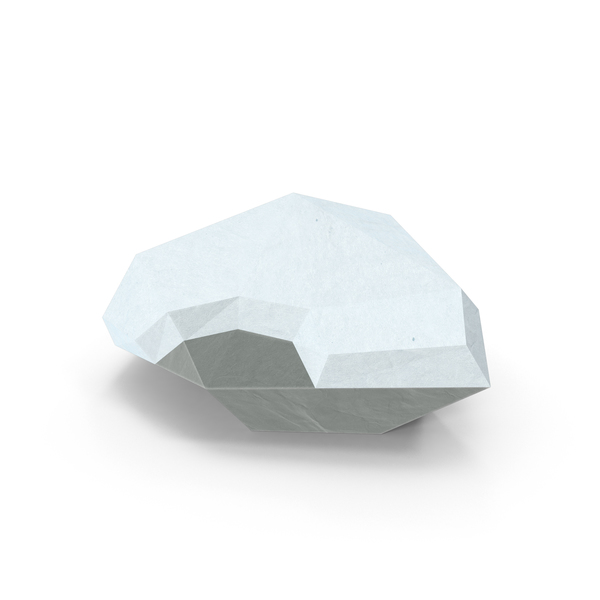 Low Poly Rock with Snow PNG & PSD Images