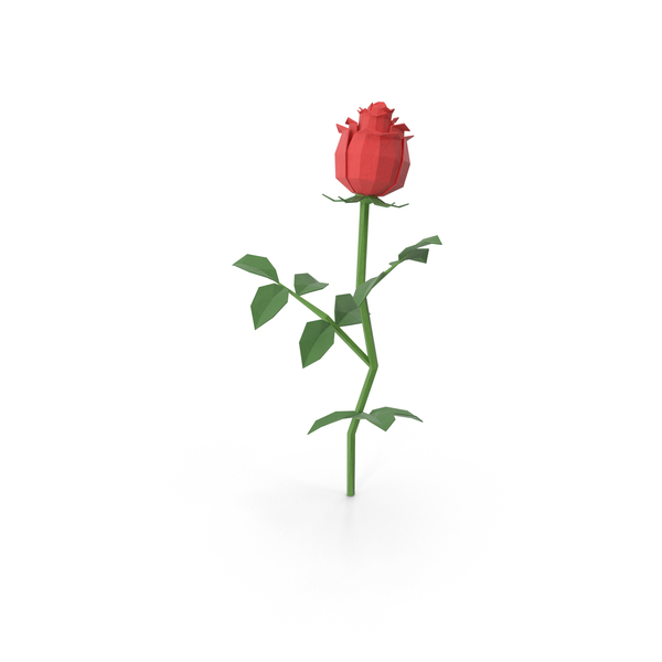 Low Poly Rose Object