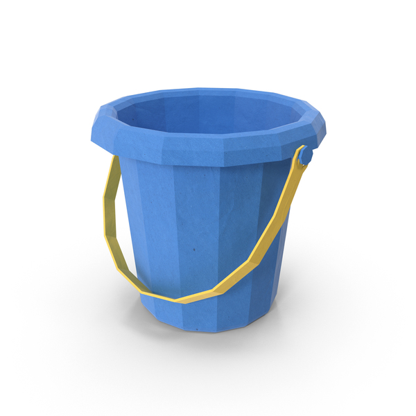Low Poly Sand Bucket PNG & PSD Images
