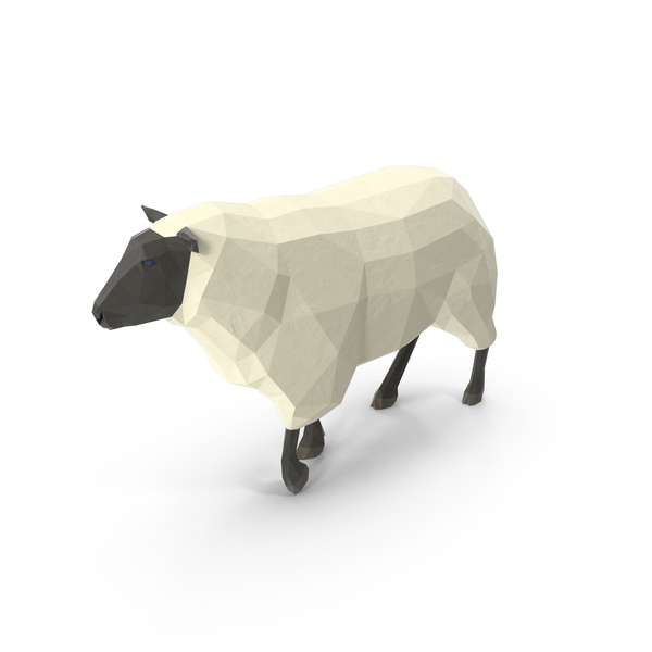 Low Poly Sheep PNG & PSD Images
