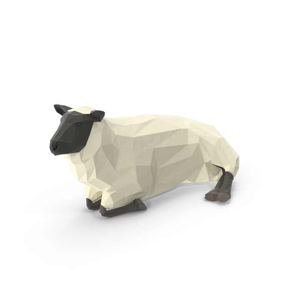 Low Poly Sheep Object