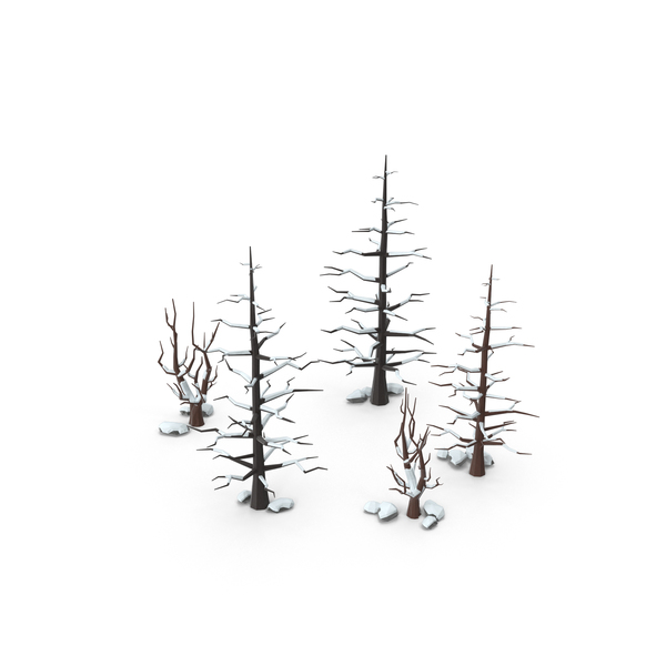 Forest: Low Poly Snow Scene PNG & PSD Images