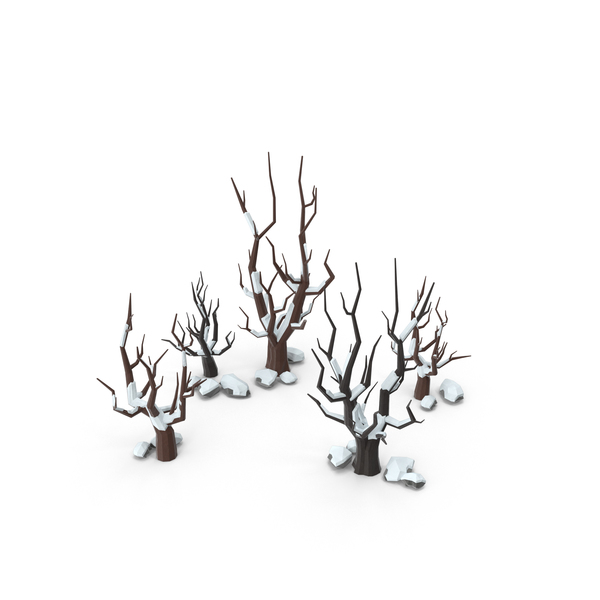 Low Poly Snow Scene Object