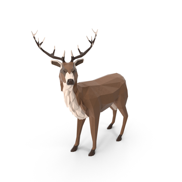 Low Poly Stag Object
