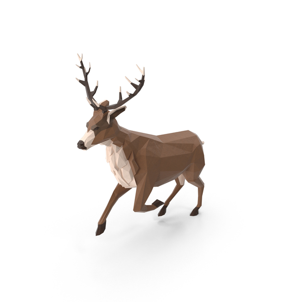 Buck: Low Poly Stag PNG & PSD Images