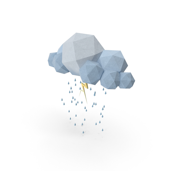 Low Poly Storm Cloud PNG & PSD Images