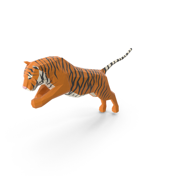 Low Poly Tiger PNG & PSD Images