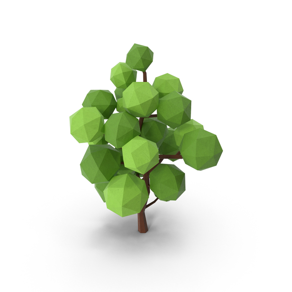 Low Poly Tree PNG & PSD Images