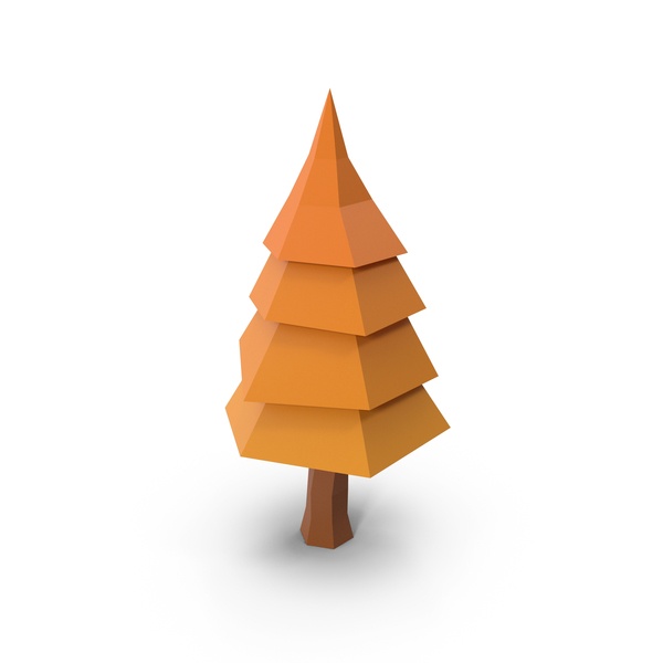Low Poly Tree Autumn PNG & PSD Images