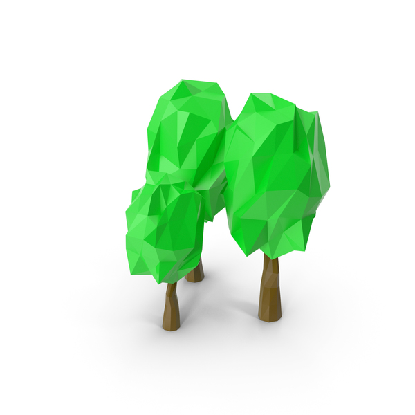 Low Poly Trees PNG & PSD Images