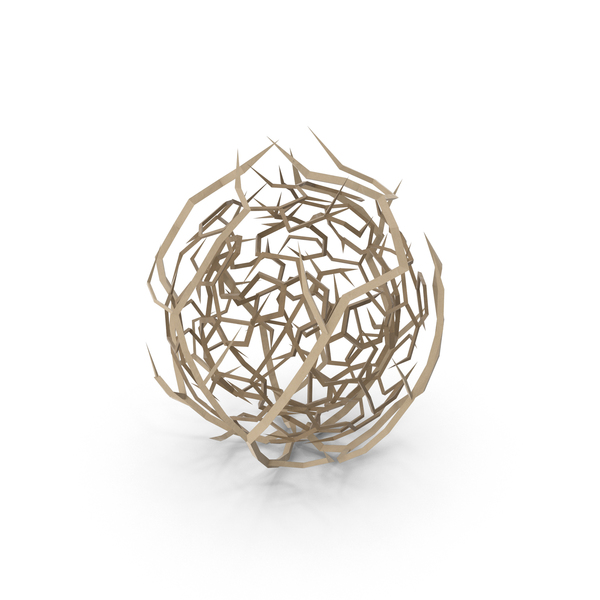 Low Poly Tumbleweed PNG & PSD Images