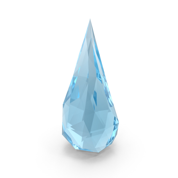Low Poly Water Drop PNG & PSD Images