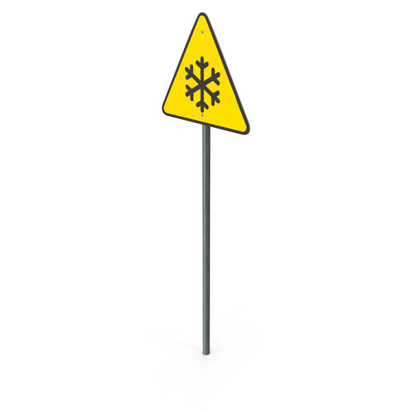 Traffic Signs: Low Temperature Sign PNG & PSD Images