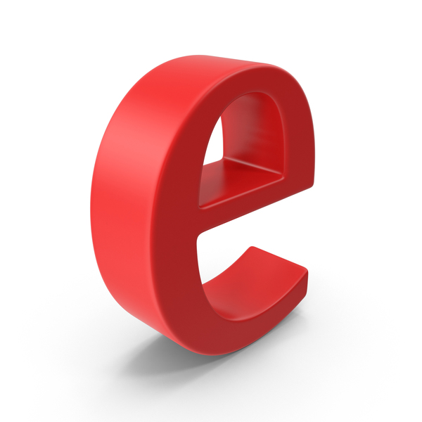 Lowercase Letter E PNG & PSD Images