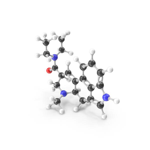 LSD Molecular Model PNG & PSD Images