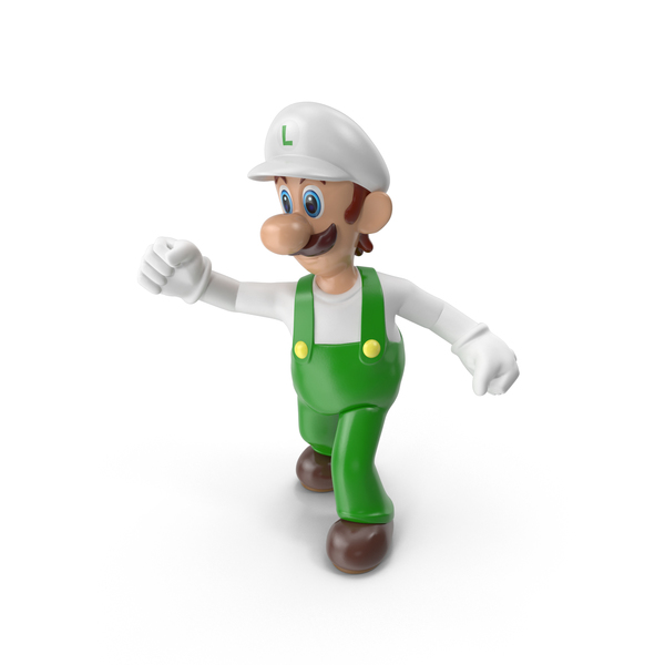 Game Character: Luigi Fireflower Costume PNG & PSD Images