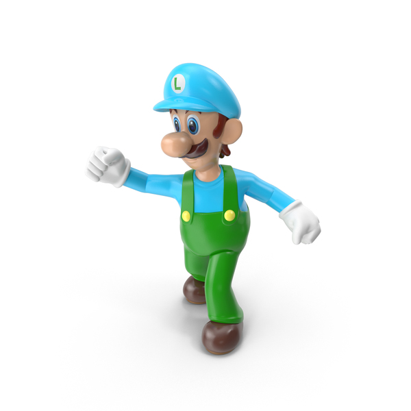 Game Character: Luigi Ice Costume PNG & PSD Images