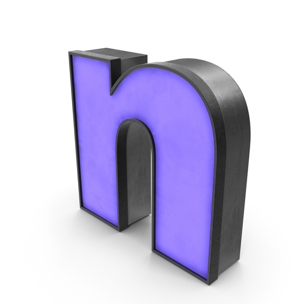 Luminous Letter n Blue Lowercase PNG & PSD Images